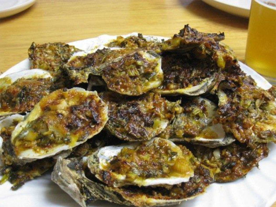 1.charbroiled oysters